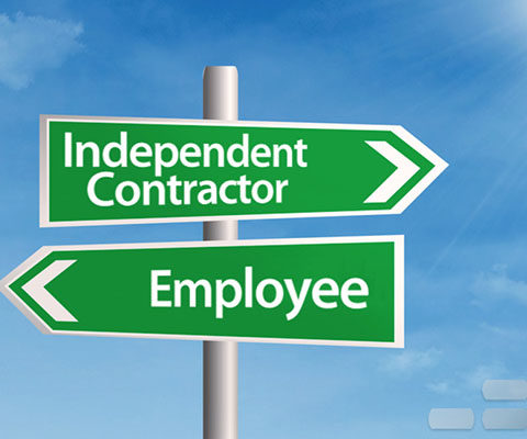 contractor or employee signposts