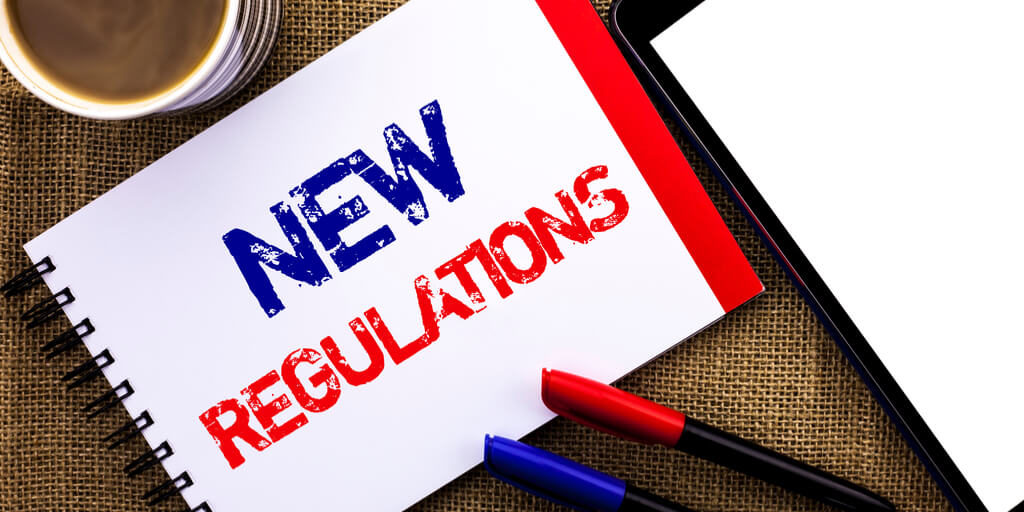 new regulations in blue and red respectively